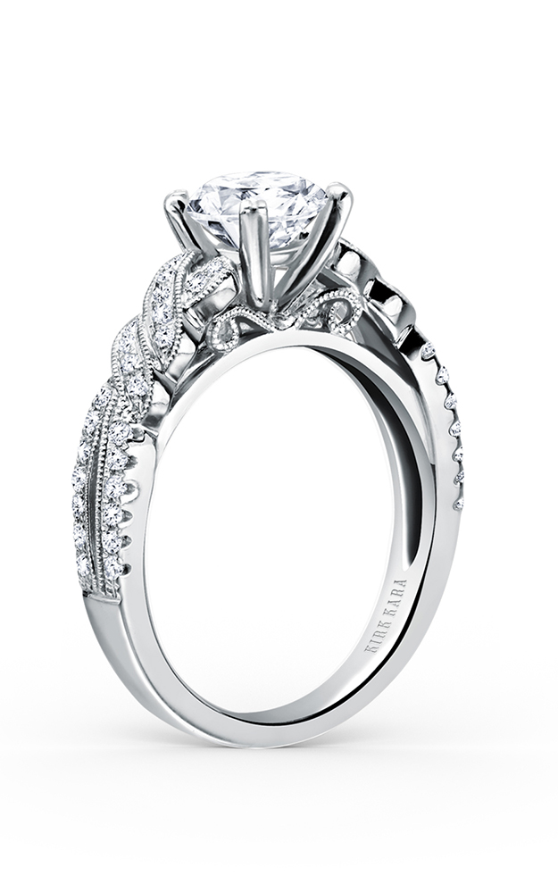 Kirk Kara Pirouetta - 18k white gold 0.21ctw Diamond Engagement Ring, K133R product image