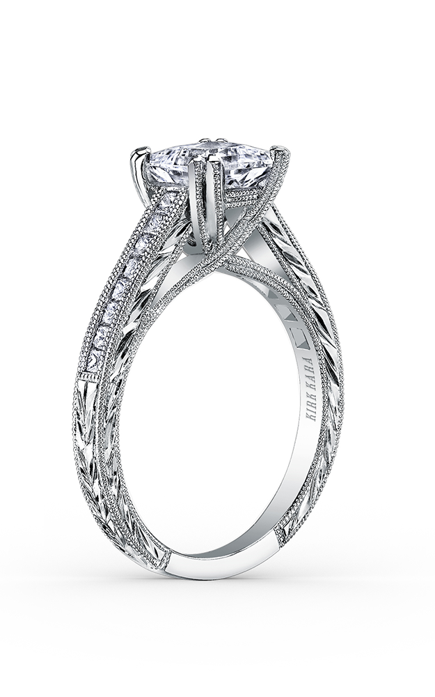 Kirk Kara Stella - 18k white gold 0.38ctw Diamond Engagement Ring, K1341DC-R product image