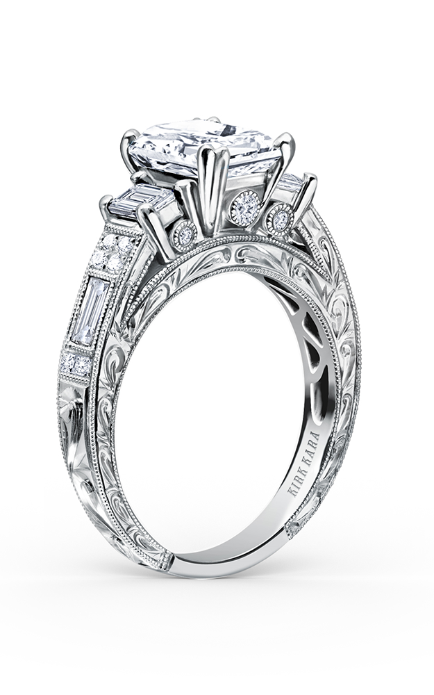 Kirk Kara Charlotte - 18k white gold 0.48, 0.26, 0.11ctw Diamond Engagement Ring, K1384DE-R product image