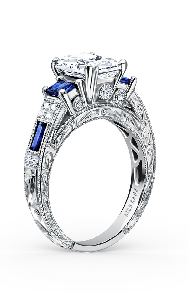 Kirk Kara Charlotte - 18k white gold 0.11ctw Diamond Engagement Ring, K1384SDE-R product image
