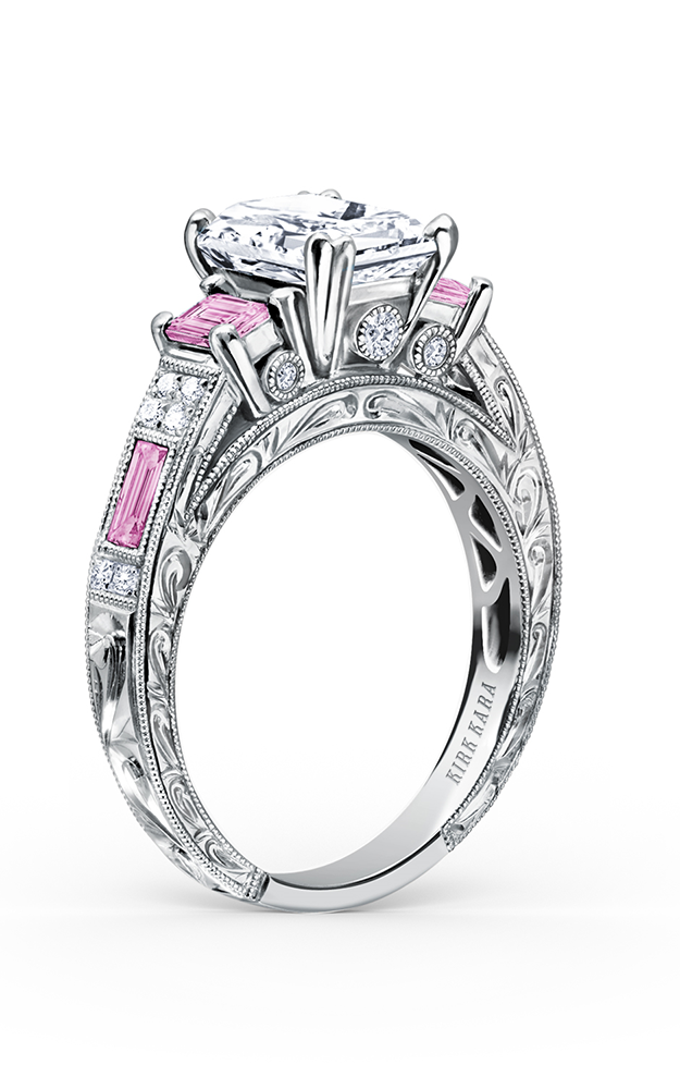 Kirk Kara Charlotte - 18k white gold 0.11ctw Diamond Engagement Ring, K1384VDE-R product image