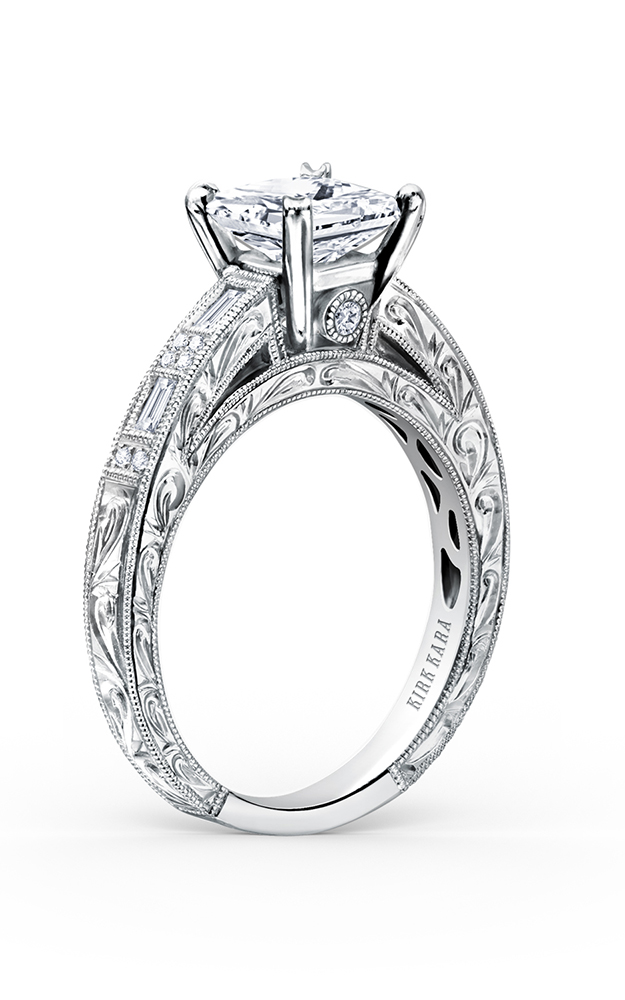 Kirk Kara Charlotte - 18k white gold 0.26ctw Diamond Engagement Ring, K138S product image