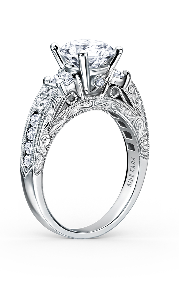 Kirk Kara Charlotte - 18k white gold 0.64ctw Diamond Engagement Ring, K1390DE-R product image