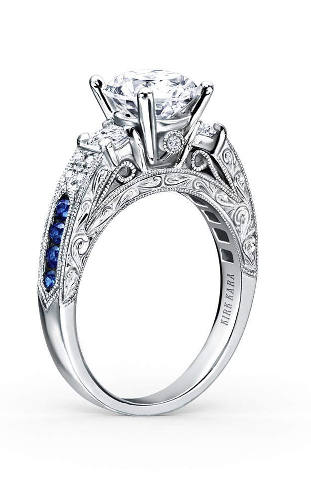 Kirk Kara Charlotte - 18k white gold 0.40ctw Diamond Engagement Ring, K1390SDE-R product image