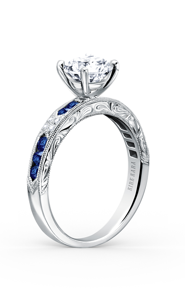 Kirk Kara Charlotte - 18k white gold 0.03ctw Diamond Engagement Ring, K1390SD-R product image