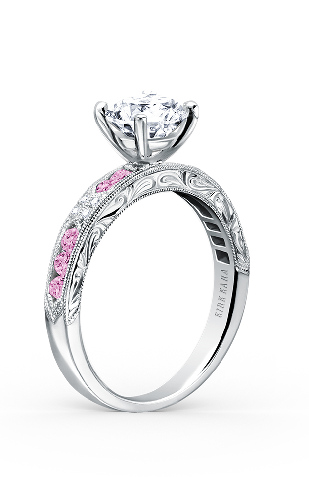 Kirk Kara Charlotte - 18k white gold 0.03ctw Diamond Engagement Ring, K1390VD-R product image
