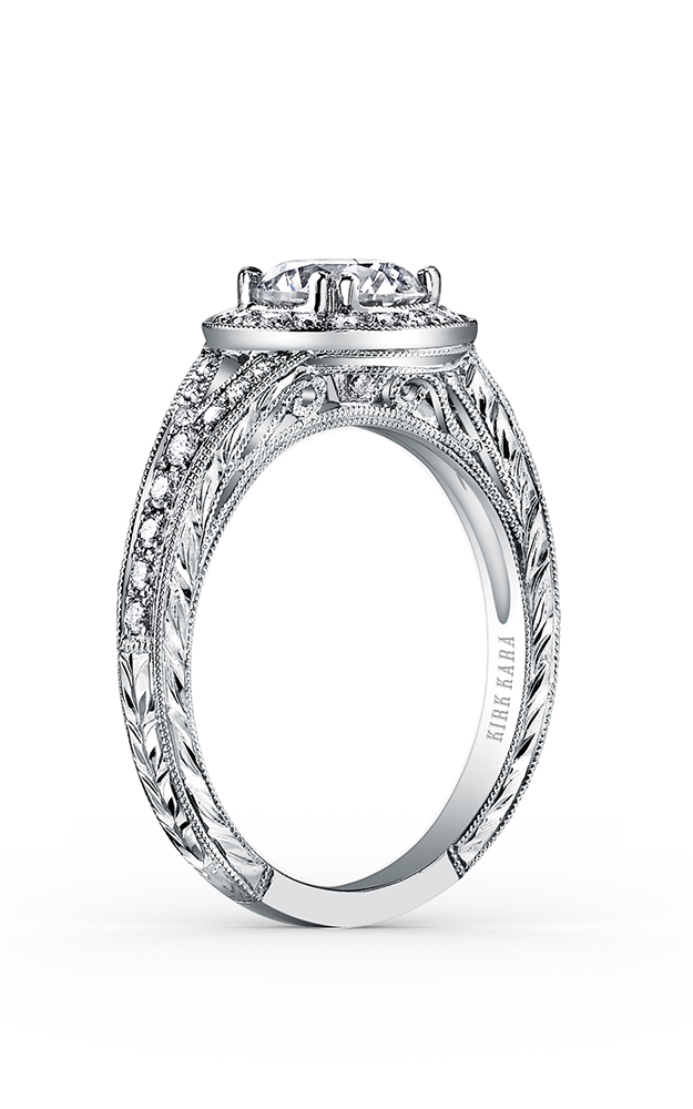 Kirk Kara Carmella - 18k white gold 0.32ctw Diamond Engagement Ring, K1440DC-R product image