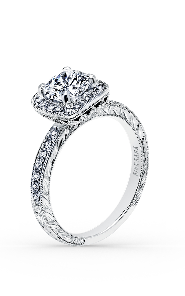 Kirk Kara Carmella - 18k white gold 0.28ctw Diamond Engagement Ring, K1450DC-R product image