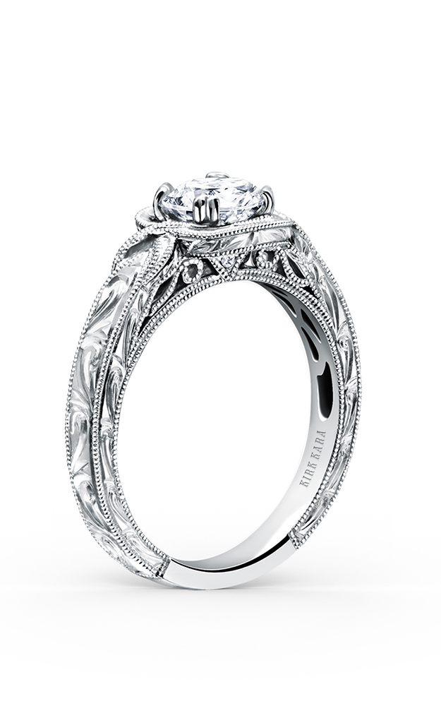 Kirk Kara Pirouetta - 18k white gold 0.01ctw Diamond Engagement Ring, K149C6R product image