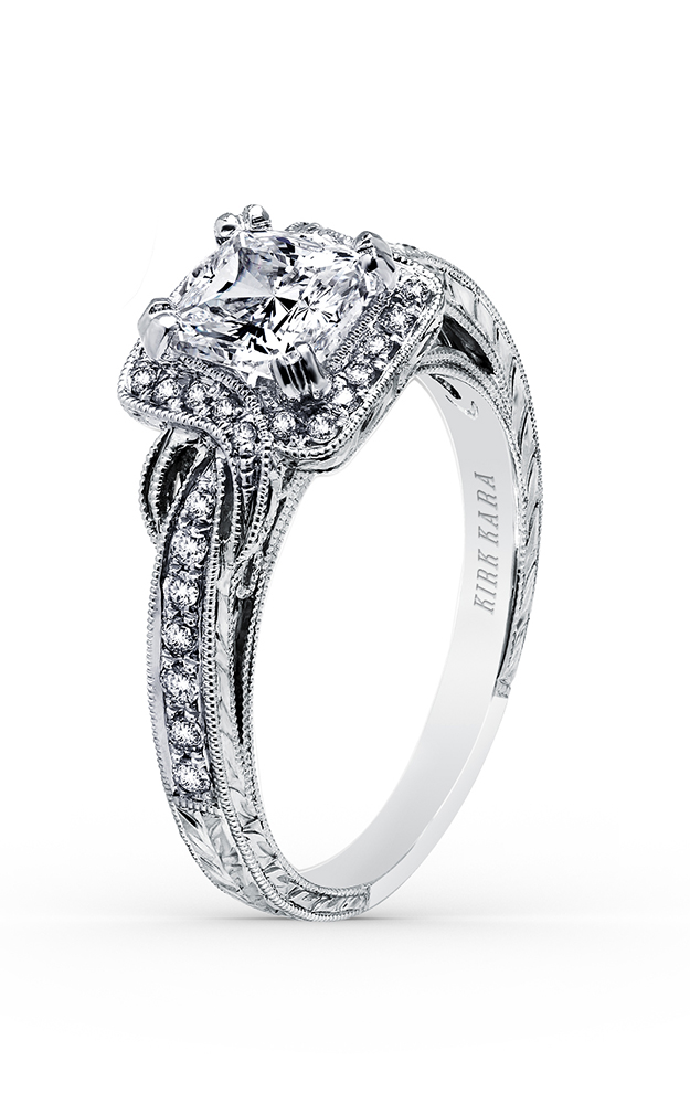 Kirk Kara Pirouetta - 18k white gold 0.25ctw Diamond Engagement Ring, K150C6S product image