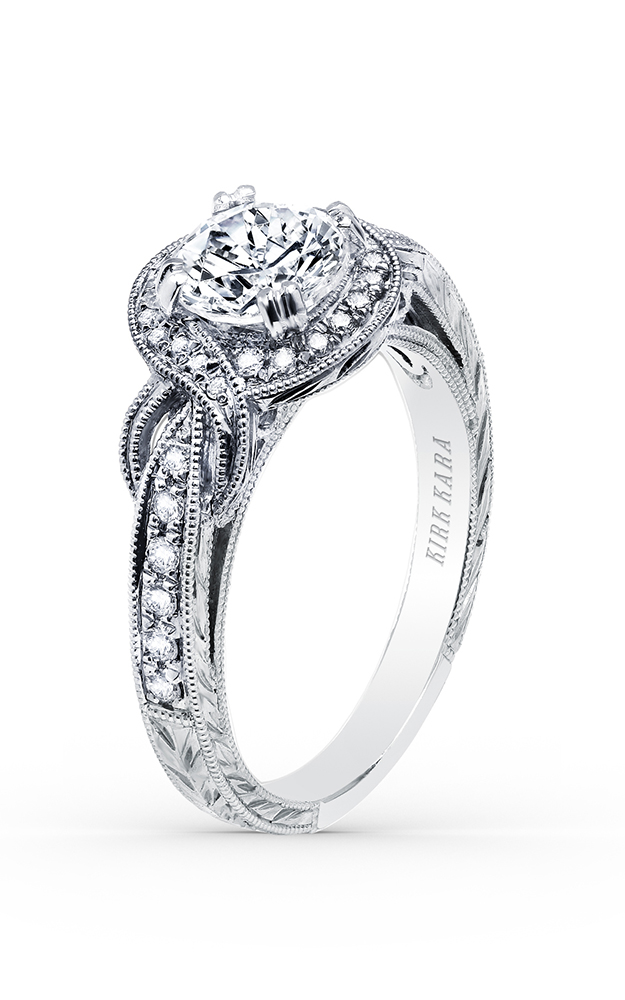 Kirk Kara Pirouetta - 18k white gold 0.23ctw Diamond Engagement Ring, K150R65R product image