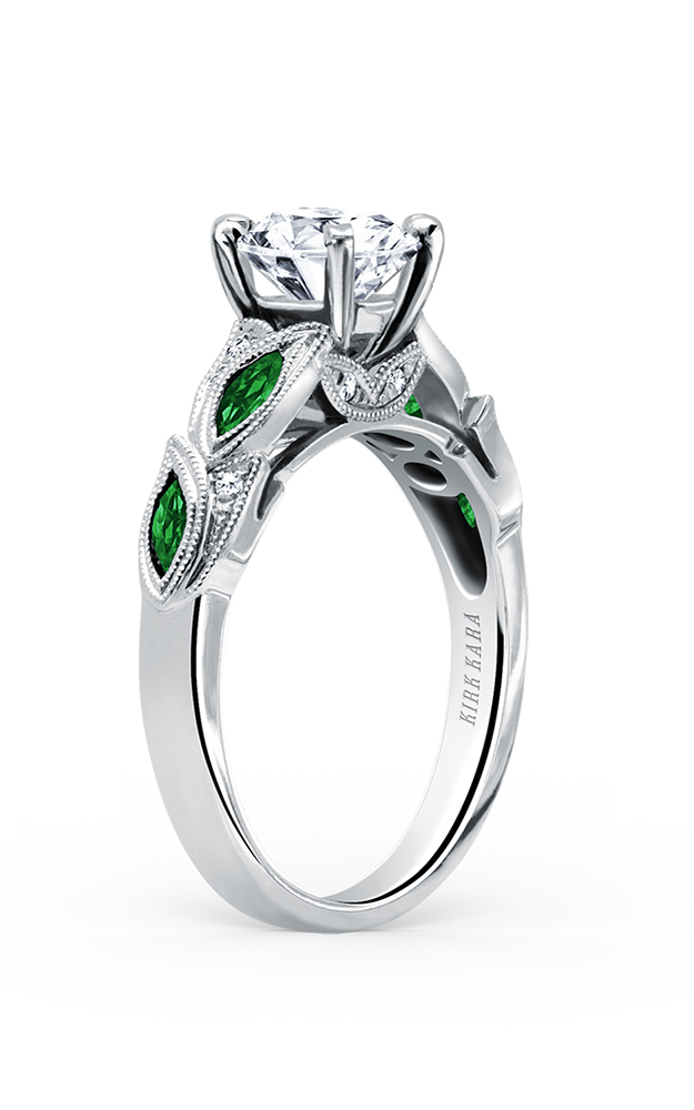 Kirk Kara Dahlia - 18k white gold 0.04ctw Diamond Engagement Ring, K155TDR product image