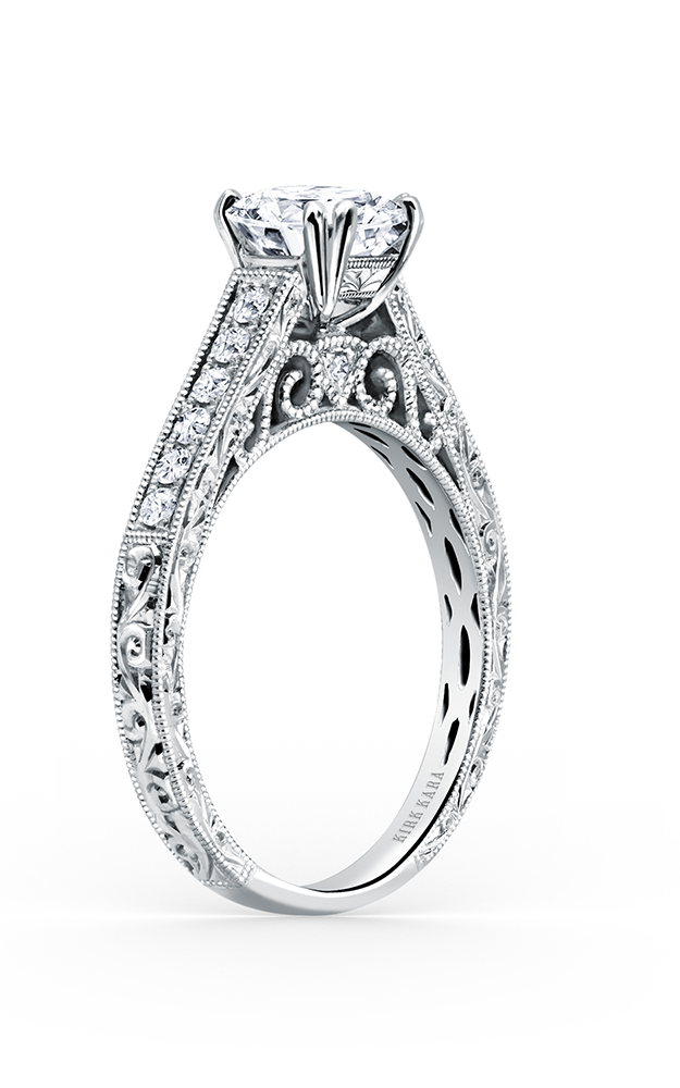 Kirk Kara Stella - 18k white gold 0.25ctw Diamond Engagement Ring, K160ER product image