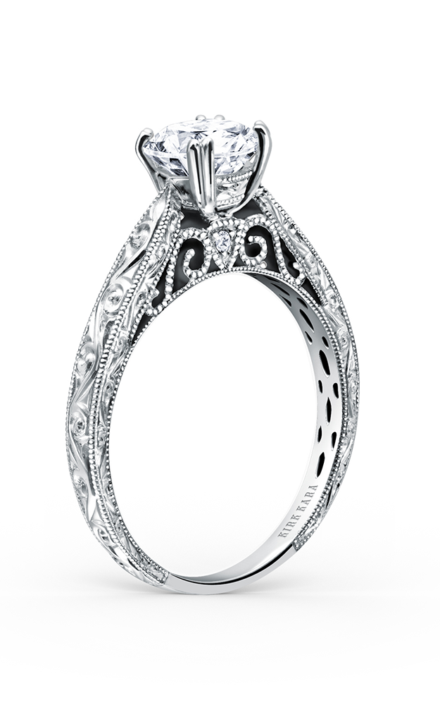 Kirk Kara Stella - 18k white gold 0.02ctw Diamond Engagement Ring, K161ENR product image