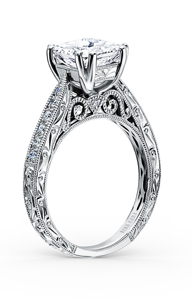 Kirk Kara Stella - 18k white gold 0.25ctw Diamond Engagement Ring, K161ESL product image