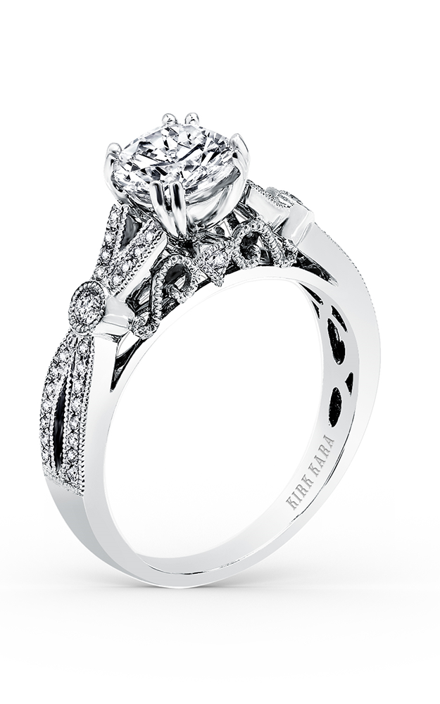Kirk Kara Pirouetta - 18k white gold 0.20ctw Diamond Engagement Ring, K165R product image