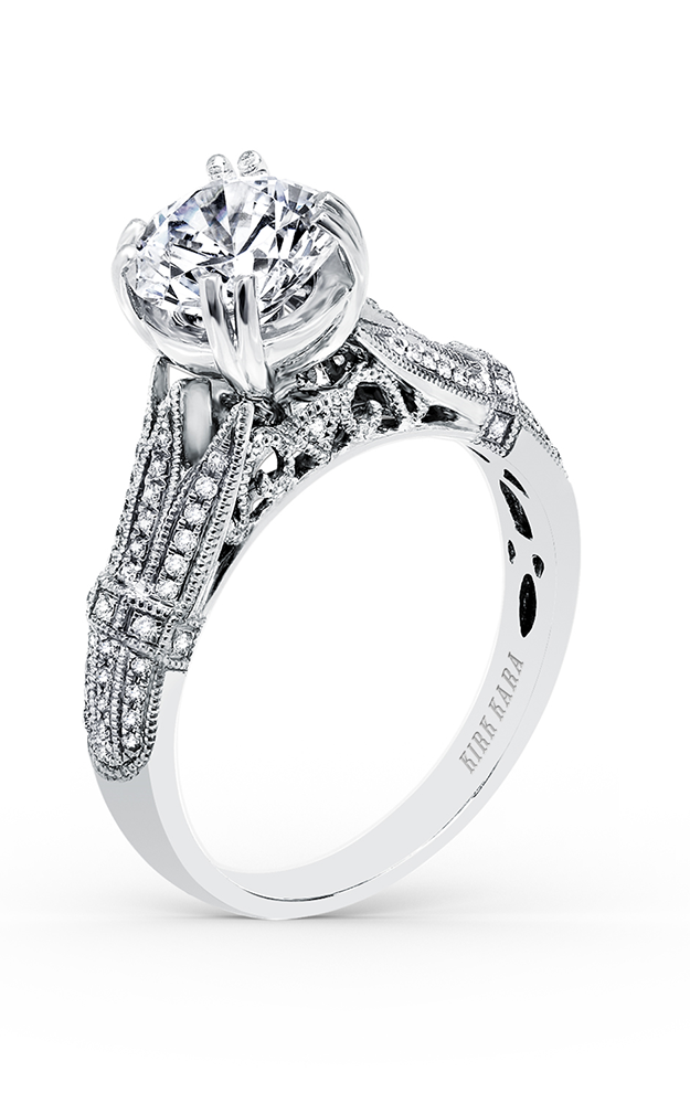 Kirk Kara Stella - 18k white gold 0.19ctw Diamond Engagement Ring, K166RL product image