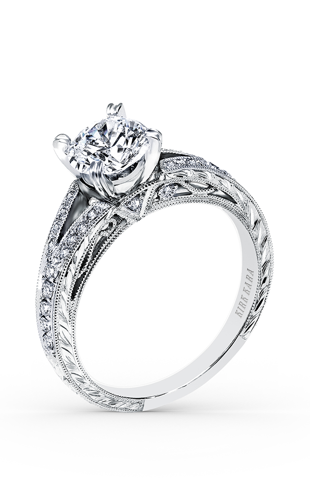 Kirk Kara Stella - 18k white gold 0.20ctw Diamond Engagement Ring, K168ER product image