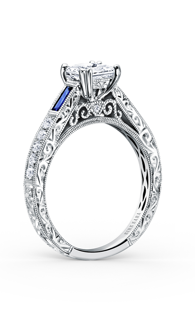 Kirk Kara Charlotte - 18k white gold 0.19ctw Diamond Engagement Ring, K170BDS product image