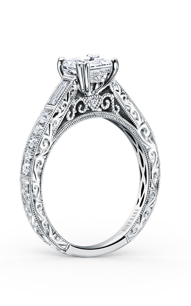 Kirk Kara Charlotte - 18k white gold 0.19, 0.18ctw Diamond Engagement Ring, K170S product image