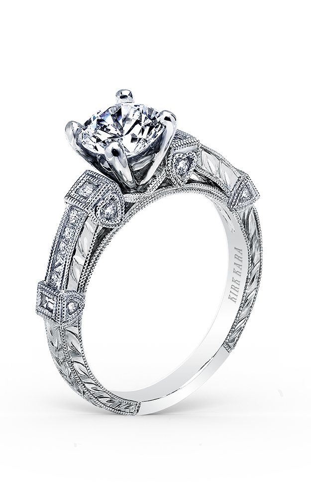 Kirk Kara Carmella - 18k white gold 0.16, 0.09ctw Diamond Engagement Ring, K175R product image