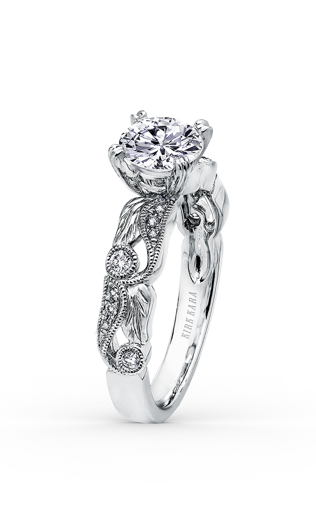 Kirk Kara Dahlia - 18k white gold 0.16ctw Diamond Engagement Ring, K177R product image
