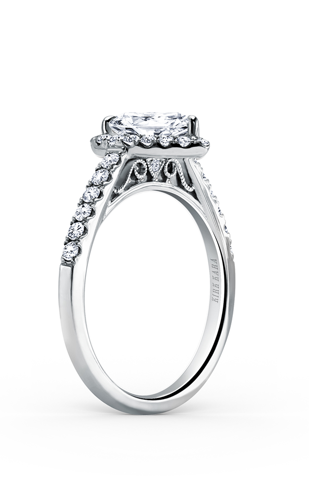 Kirk Kara Carmella - 18k white gold 0.43ctw Diamond Engagement Ring, K184P85X55 product image