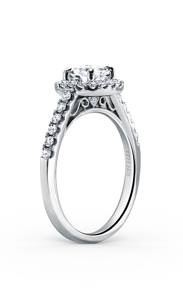 Kirk Kara Carmella - 18k white gold 0.44ctw Diamond Engagement Ring, K184R65R product image