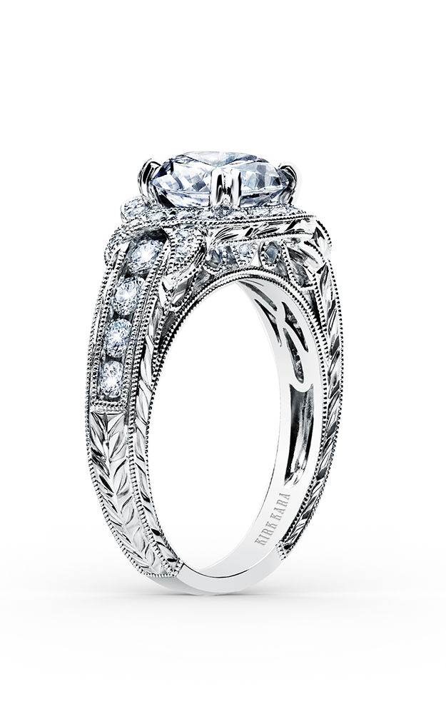 Kirk Kara Pirouetta - 18k white gold 0.56ctw Diamond Engagement Ring, K250R8R product image