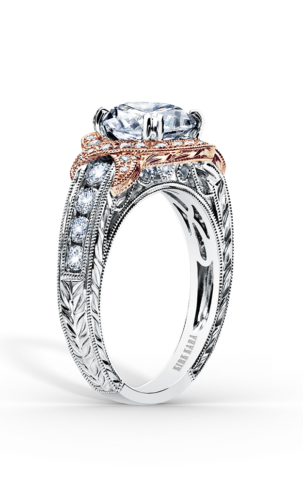 Kirk Kara Pirouetta - 18k rose gold, 18k white gold 0.56ctw Diamond Engagement Ring, K250R8RWR product image