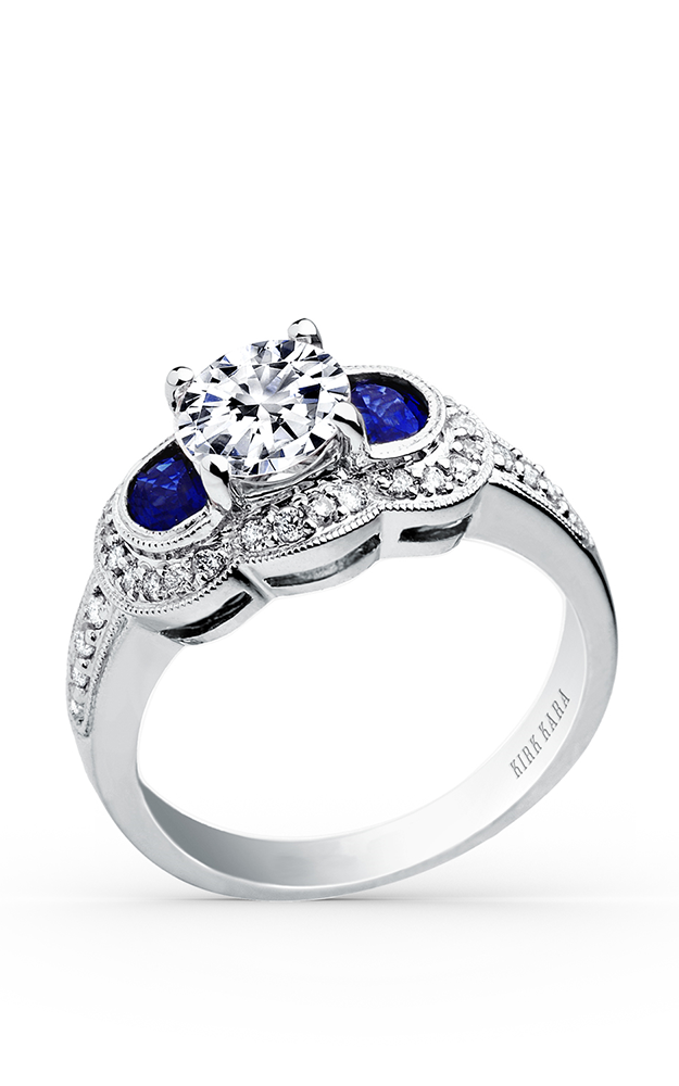 Kirk Kara Charlotte - 18k white gold 0.25ctw Diamond Engagement Ring, SS6223-S product image