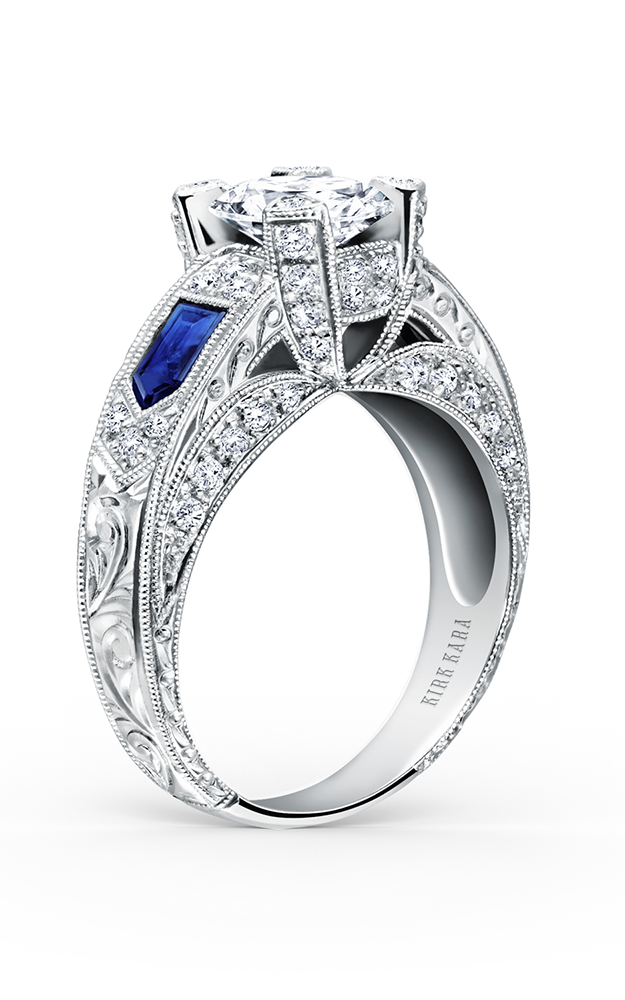 Kirk Kara Charlotte - 18k white gold 0.46ctw Diamond Engagement Ring, SS6635-R product image