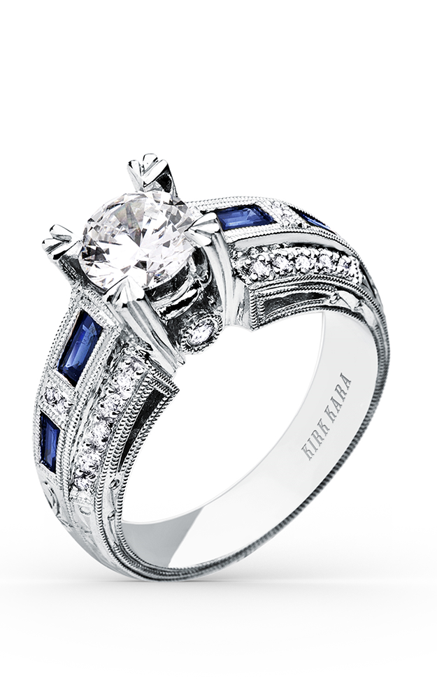 Kirk Kara Charlotte - 18k white gold 0.20ctw Diamond Engagement Ring, SS6636-R product image