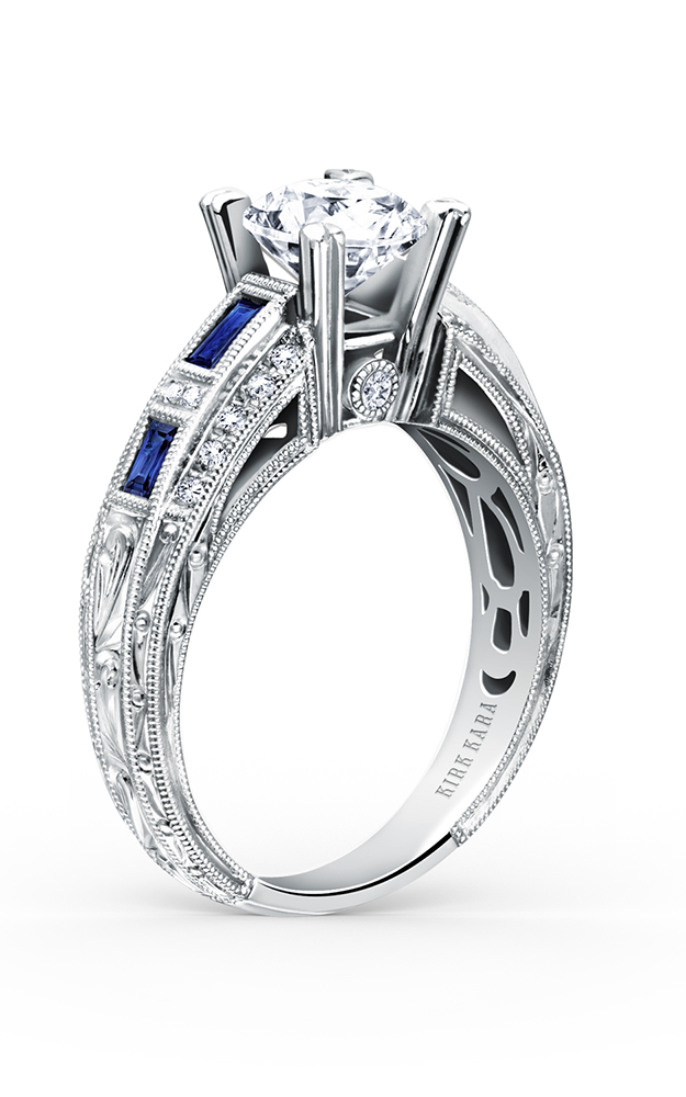 Kirk Kara Charlotte - 18k white gold 0.13ctw Diamond Engagement Ring, SS6636-RS product image
