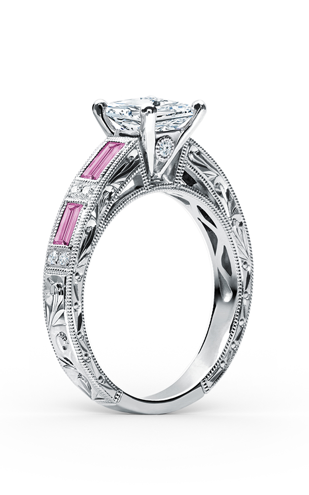 Kirk Kara Charlotte - 18k white gold 0.09ctw Diamond Engagement Ring, SS6685P-R product image