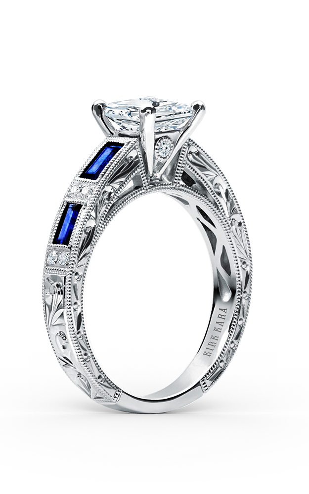 Kirk Kara Charlotte - 18k white gold 0.09ctw Diamond Engagement Ring, SS6685-R product image