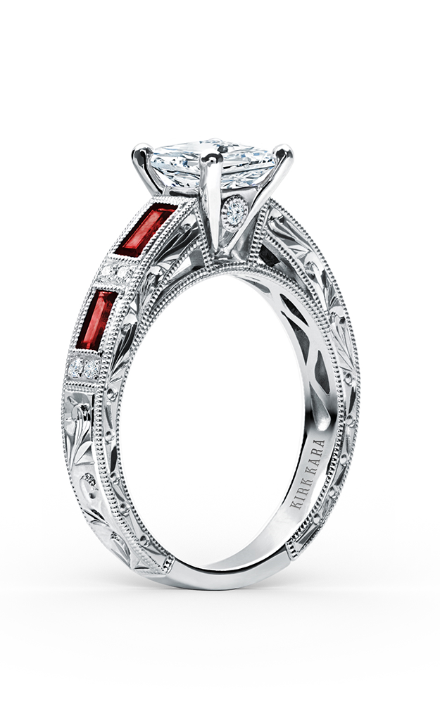 Kirk Kara Charlotte - 18k white gold 0.09ctw Diamond Engagement Ring, SS6685R-R product image
