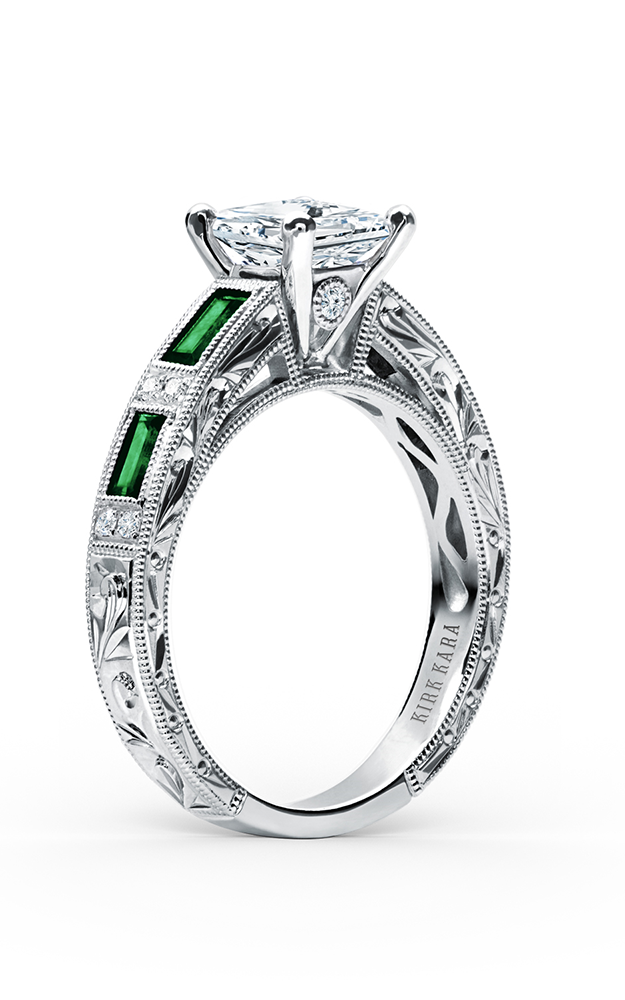 Kirk Kara Charlotte - 18k white gold 0.09ctw Diamond Engagement Ring, SS6685TS-R product image