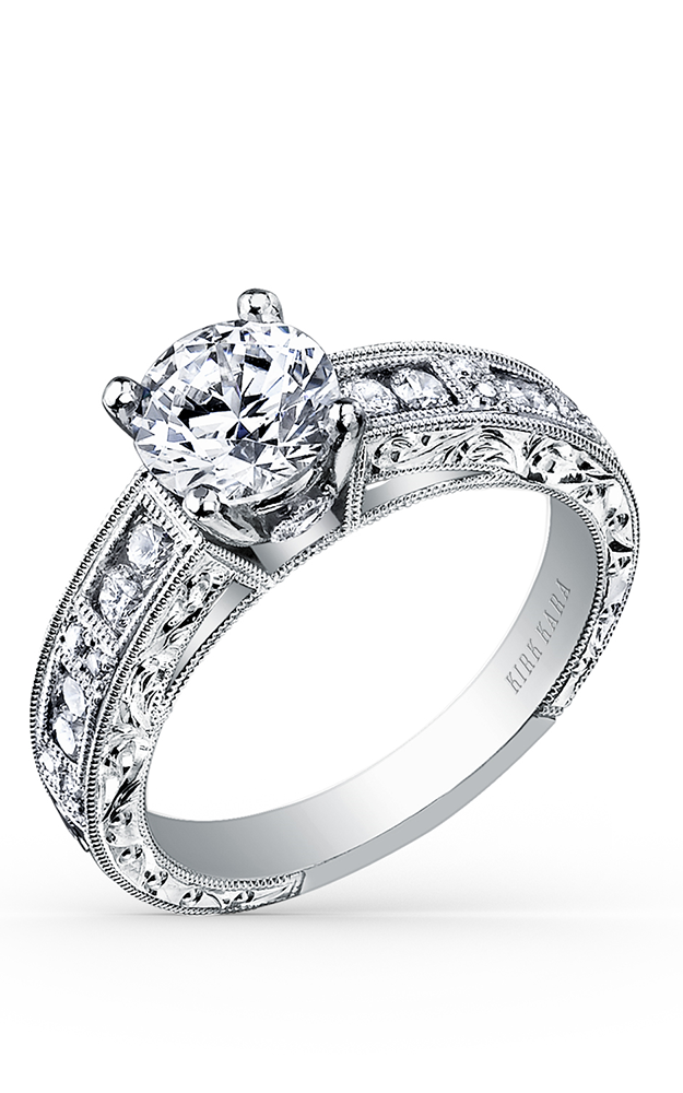 Kirk Kara Charlotte - 18k white gold 0.42ctw Diamond Engagement Ring, SS6726-R product image
