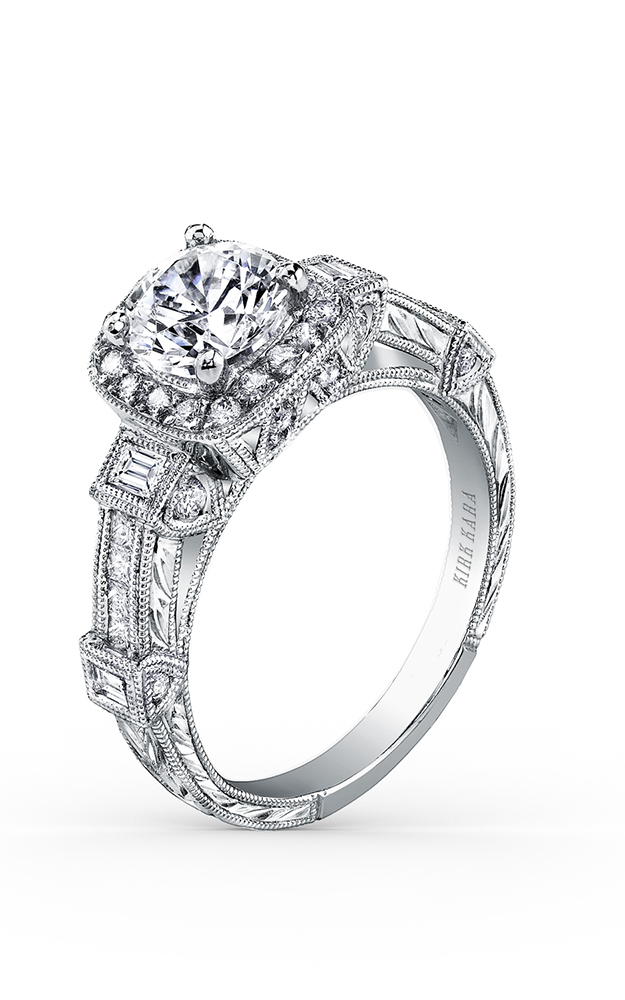 Kirk Kara Carmella - 18k white gold 0.30, 0.16ctw Diamond Engagement Ring, SS6757-R product image
