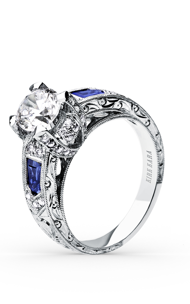 Kirk Kara Charlotte - 18k white gold 0.30ctw Diamond Engagement Ring, SS6835-R product image