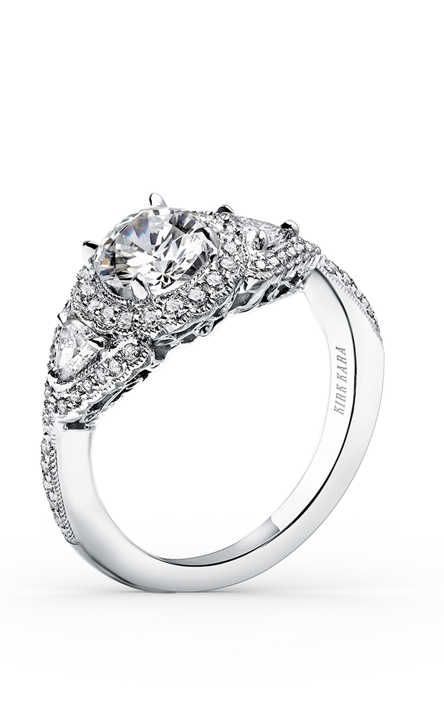 Kirk Kara Pirouetta - 18k white gold 0.68ctw Diamond Engagement Ring, SS6860-R product image