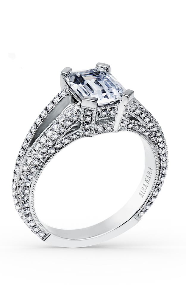 Kirk Kara Carmella - 18k white gold 0.85ctw Diamond Engagement Ring, SS6951A-R product image