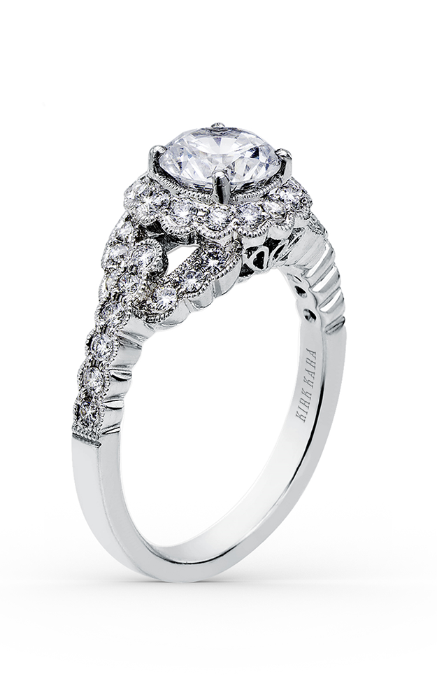 Kirk Kara Pirouetta - 18k white gold 0.49ctw Diamond Engagement Ring, SS6954-R product image