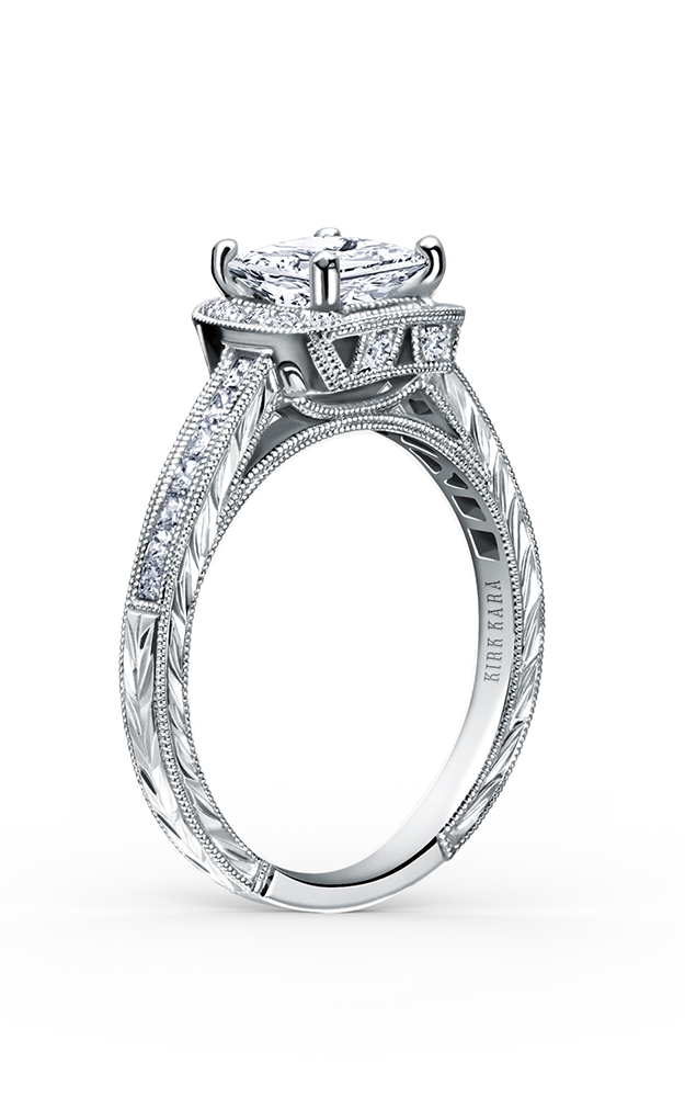 Kirk Kara Carmella - 18k white gold 0.26, 0.15ctw Diamond Engagement Ring, SS6996-R product image