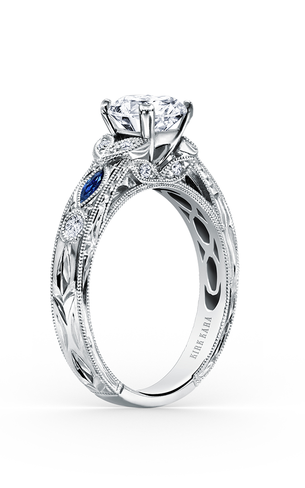 Kirk Kara Dahlia - Platinum 0.12ctw Diamond Engagement Ring, K1120SDC-R product image