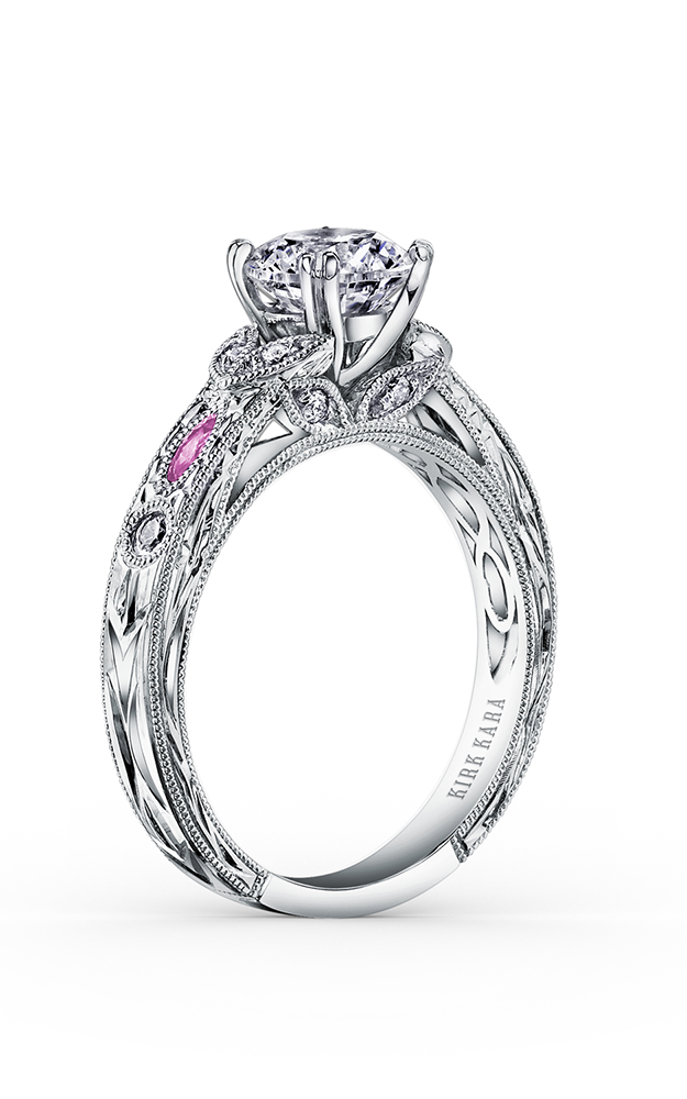 Kirk Kara Dahlia - Platinum 0.12ctw Diamond Engagement Ring, K1120VDC-R product image