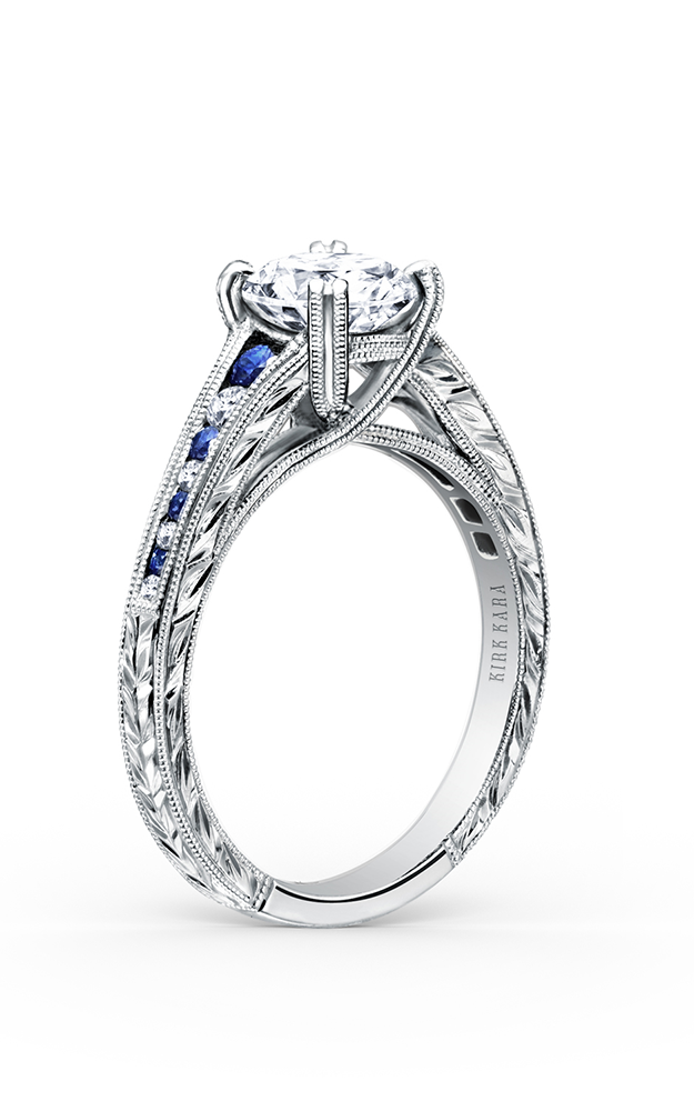 Kirk Kara Stella - Platinum 0.08ctw Diamond Engagement Ring, K1140BDC-R product image