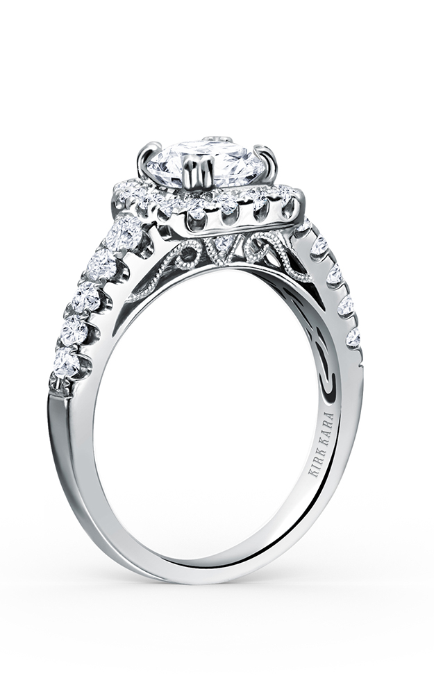 Kirk Kara Carmella - Platinum 0.66ctw Diamond Engagement Ring, K117C65R product image