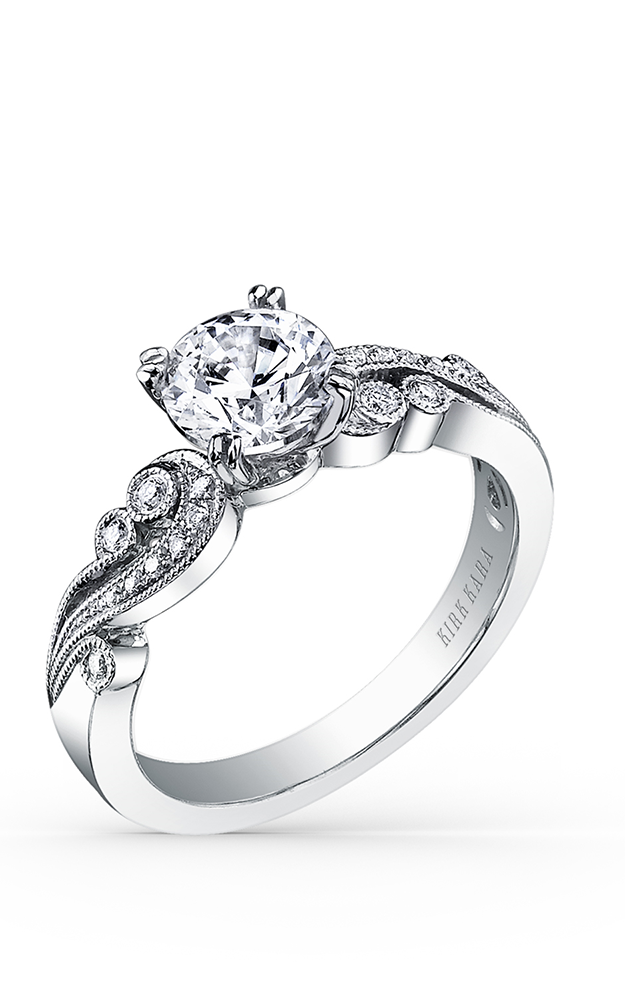 Kirk Kara Angelique - Platinum 0.11ctw Diamond Engagement Ring, K1250DC-R product image